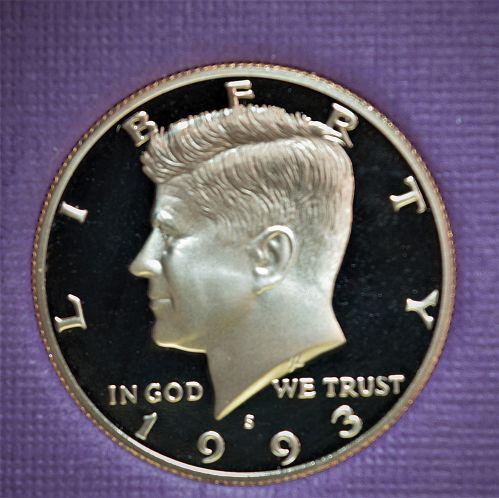 1993 Kennedy Half Dollar Proof - Cameo