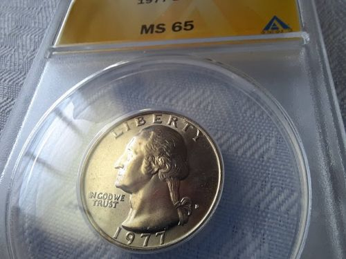 Lot of 3 Washington 25c 1973,77,77-D Anacs MS 64-65 $20.50