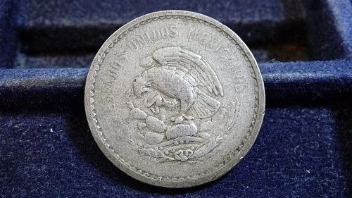 1942 MEXICO 10 CENTAVO COIN IN CIRCULATED CONDITION  D-20-21
