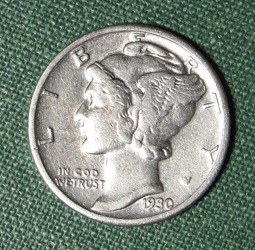 1930P Mercury Dime
