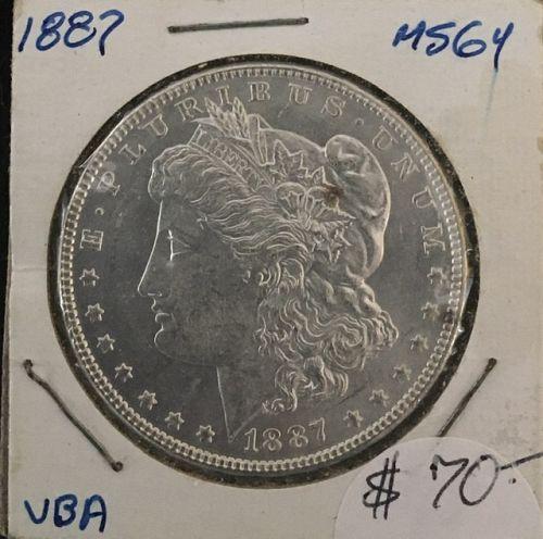 1887 Morgan Dollar  MS64