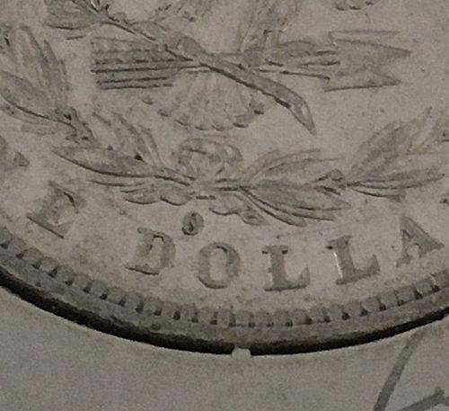 1882 O over S  Morgan Dollar  AU-