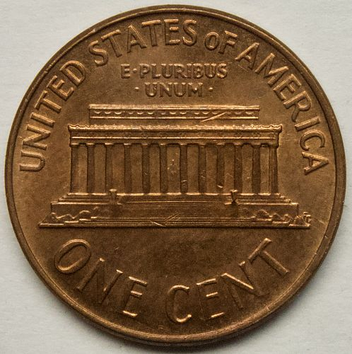 1968S Lincoln Memorial Cent#6 Slightly Toned as shown.