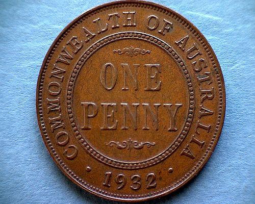 1932 AUSTRALIA PENNY