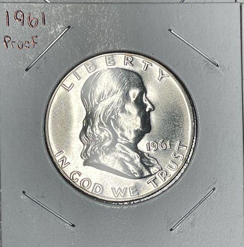 1960-1963 BFHD$.50 PROOF LOT - 4 Prf65+ Franklin 90% Silver Half Dollar