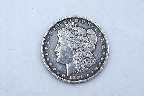 1891 CC Morgan Dollar $1 US Coin