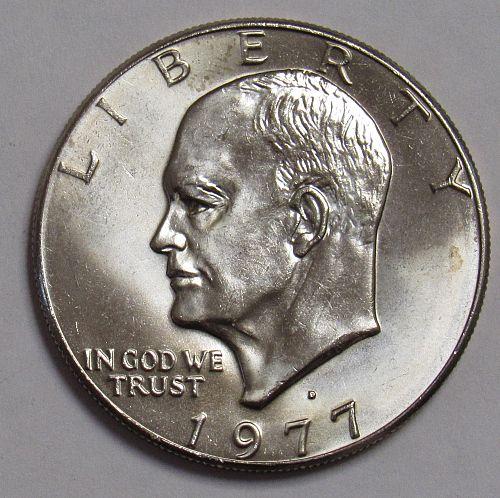 1977 D Eisenhower Dollar in BU condition