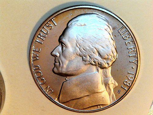 1981 S Proof Jefferson Nickel Type 1 (price dropped 7/18)