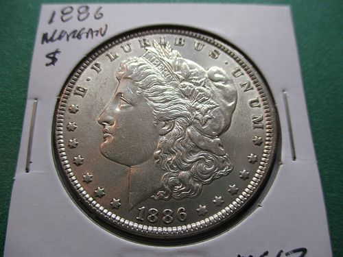 1886  MS63 Morgan Dollar.  Item: DM 86-11.