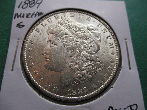 1889  AU58 Morgan Dollar   Item: DM 89-16.