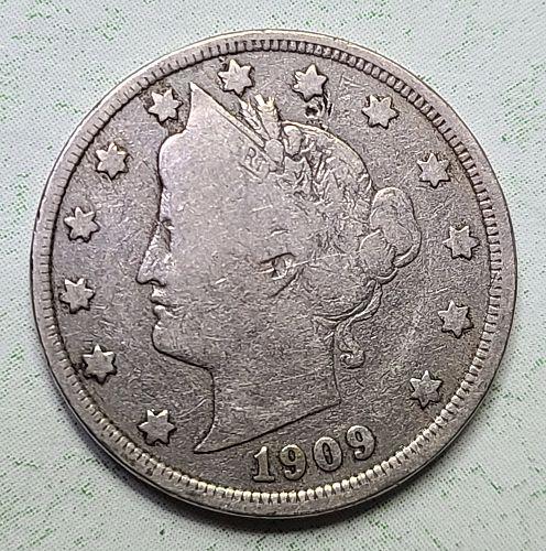 "1909 Liberty ""V"" Nickel Very Good-8"