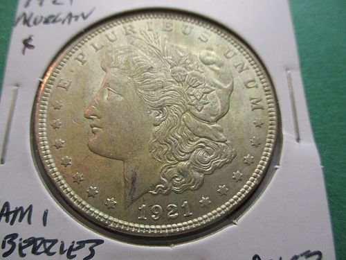1921  AU53 Morgan Dollar.  VAM 1.  Item: DM 21-15.