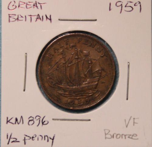 Great Britain 1959 half penny