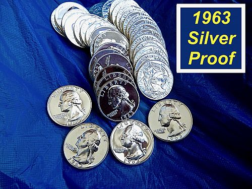 1963 Proof  ☆  USA Mint Cellophane Packaged   ☆  (R8354a)