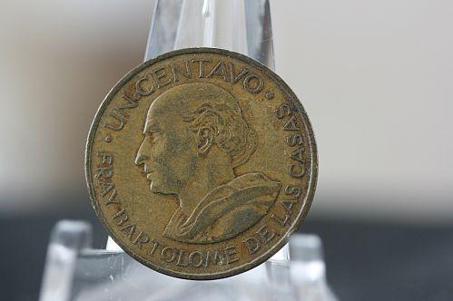 Guatemala 1958 un centavo Bartolome de las casas