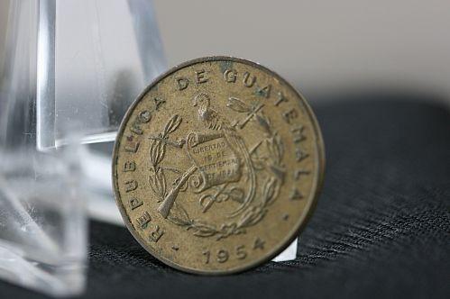 Guatemala 1954 un centavo Bartolome de las casas