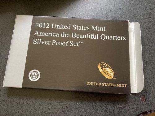 2012-S Proof ATB Quarter Set. 90% Silver. Original Box & COA. 5 Coins. US Mint
