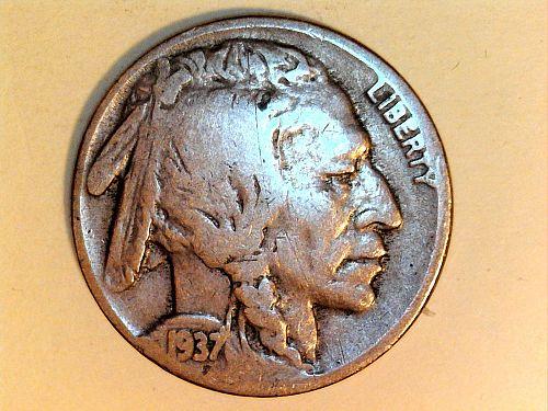 1937 P Buffalo Nickel (price dropped 7/18)