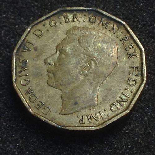 1942 George VI 3 Pence