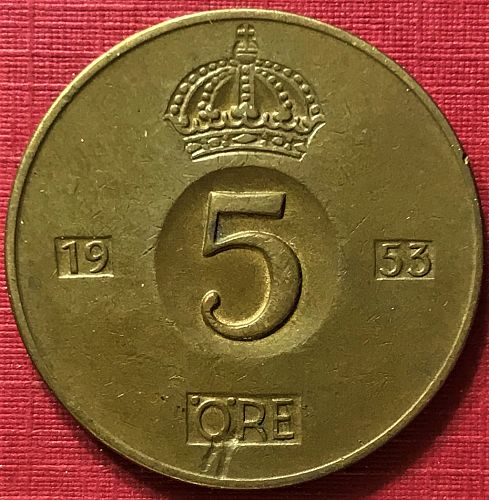 Sweden - 1953 - 5 Ore [#1]
