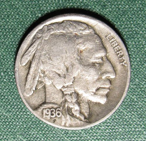 1936S Buffalo Nickel