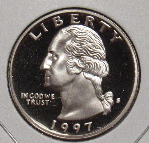 1997 S Proof Washington Quarter