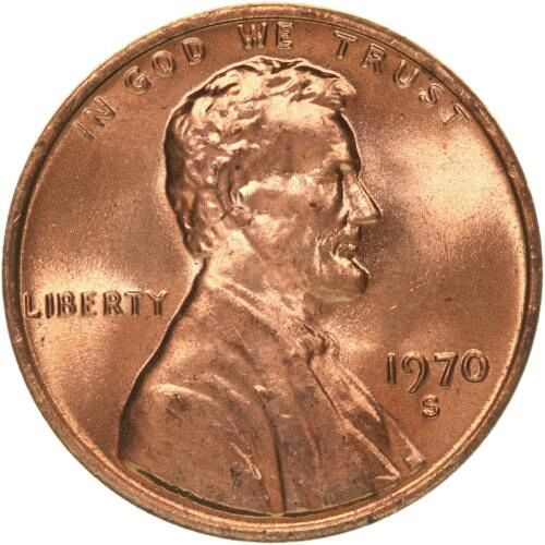 1970  S PROOF   LINCOLN CENT -  LOW 7