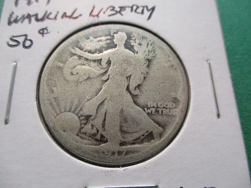 1917  AG3 Walking Liberty Half Dollar.  Item: 50 W17-06.