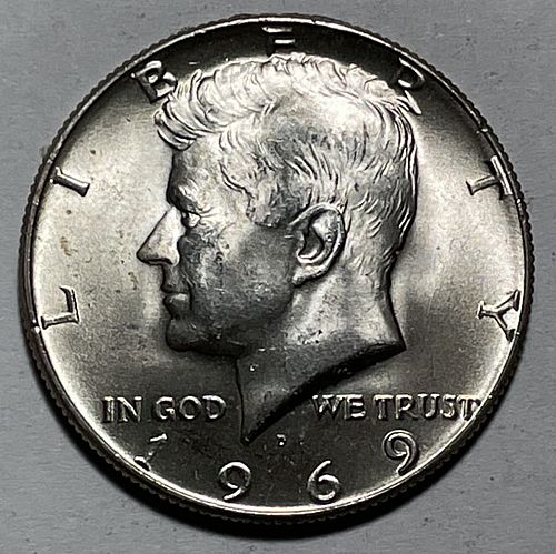 1969 D Kennedy Half Dollars. 11222