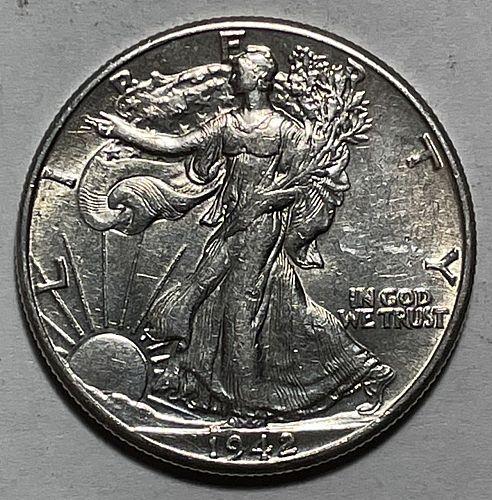 1942 Walking Liberty Half Dollars. 11223