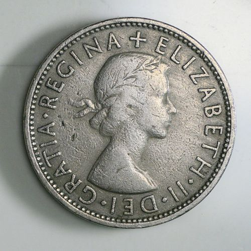 1959 QUEEN ELIZABETH II FLORIN / TWO SHILLING COIN Great Britain UK
