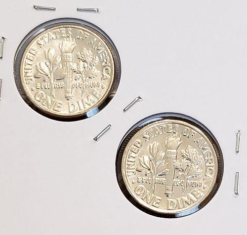 1981 Roosevelt Dimes P and D mints ,BU