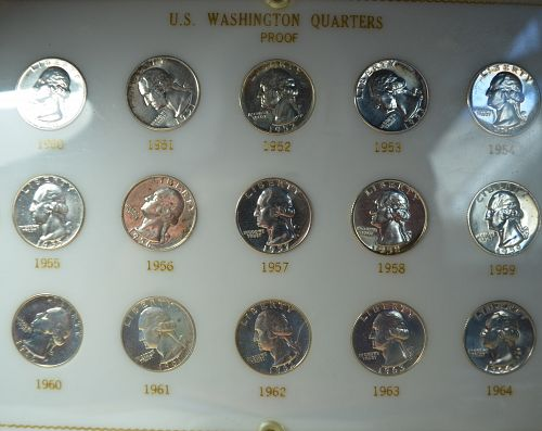 1950-1964 Washington Quarter Silver Proof Quarters