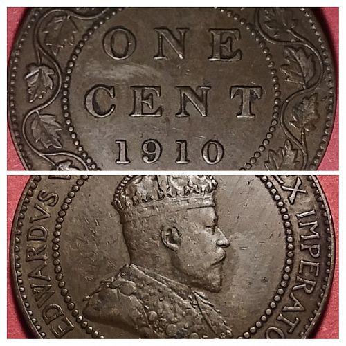 FINE 1910 CANADA LARGE CENT