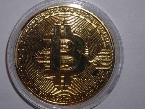 2013 GOLD PLATTED BITCOIN DOLLAR BIT COIN