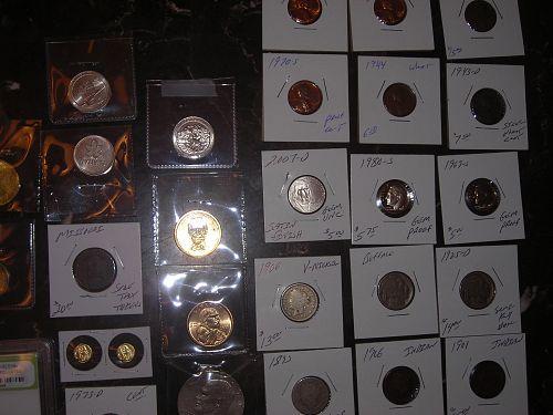 54 PCGS slabbed coin lot unc,gem bu,silver,Commemorative,PRESIDENT DOLLAR
