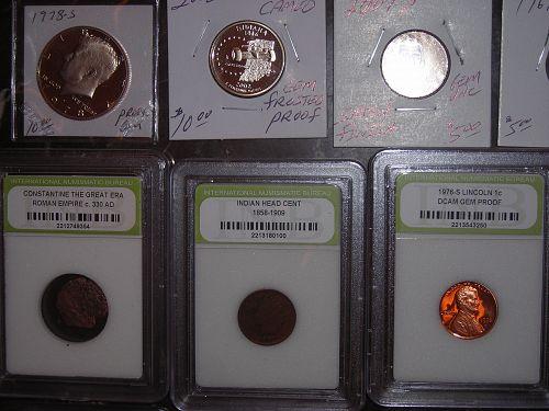 47 PCGS slabbed coin lot unc,gem bu,silver,Commemorative,IKE & MORGAN DOLLARS