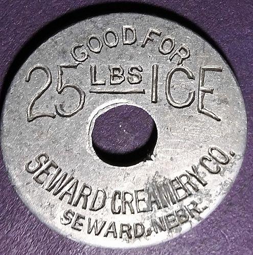 SEWARD CREAMERY GOOD FOR 25 LBS ICE TRADE TOKEN