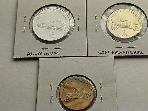 2002 North Korea 2, 1 & 1/2 Chon Coin(s) Brilliant uncirculated FAO issue