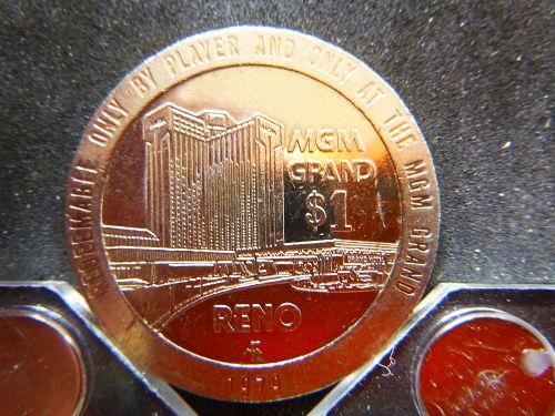 MGM GRAND 1979 RENO NV 1.00 GAMING TOKEN