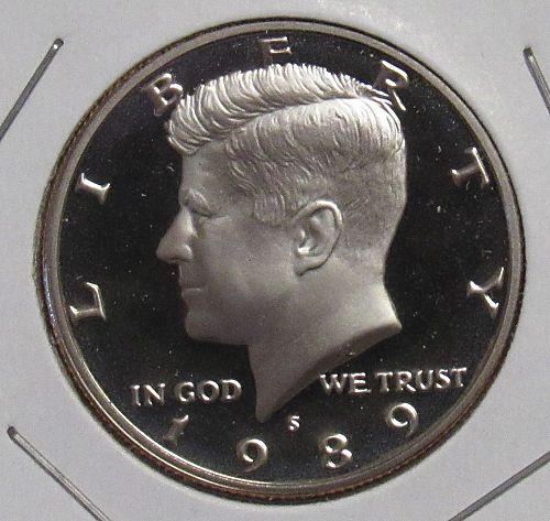 1989 S Proof Kennedy Half Dollar