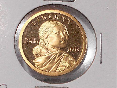 2003 S Proof Sacagawea dollar 03