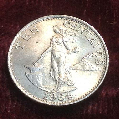 1964 Philippines 10 centavos