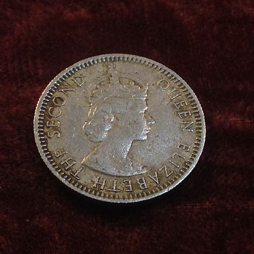 1961 Malaya and British Borneo 10 Cents