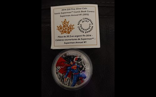 2014 Canadian mint Superman fine silver and gold coin full set