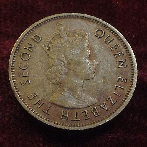1963 Hong Kong 10 Cents