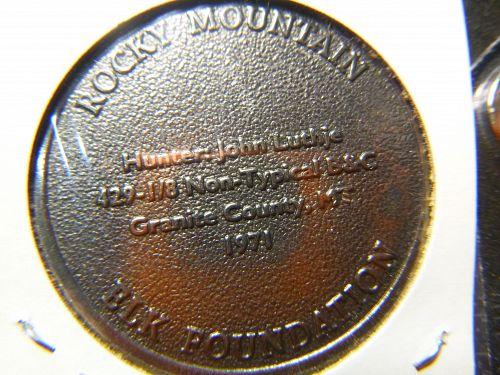 ROCKY MOUNTAIN 1971 ELK FOUNDATION GREAT ELK TOUR COLLECTORS SERIES TOKEN