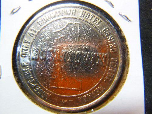 BOOMTOWN 1989 VERDI NV 1.00 GAMING TOKEN