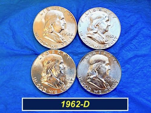 1962-D Silver Franklin  ⭐️ Uncirculated Mint Luster   ⭐️    (#1171)