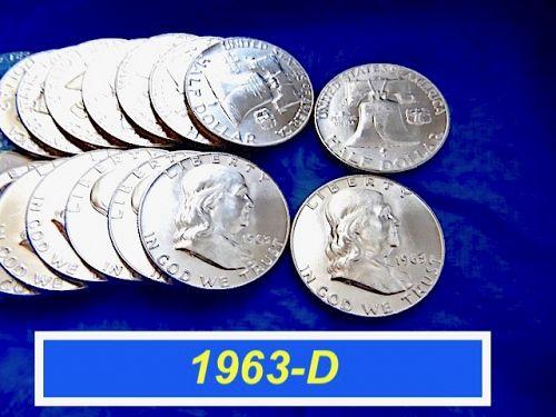 "1963-D Silver Franklin  ⭐️ ""BU"" with Original Mint Luster  ⭐️ (1085a)"